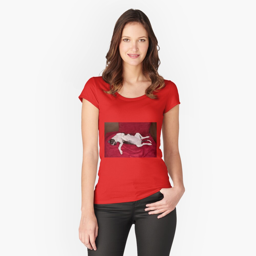 Worn Out Women's Fitted Scoop T-Shirt Front