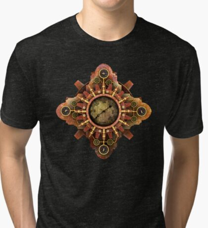 Infernal Steampunk Vintage Machine part No.1A Tri-blend T-Shirt