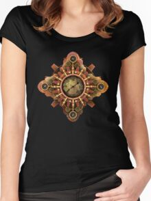 Infernal Steampunk Vintage Machine part No.1A Women's Fitted Scoop T-Shirt