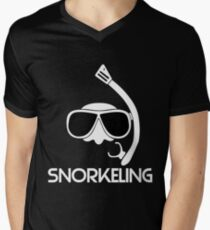 Snorkeling Diving Men's V-Neck T-Shirt