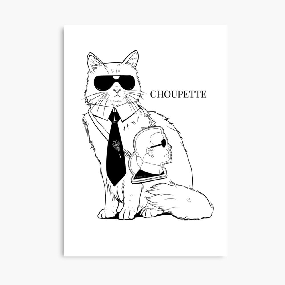 Choupette Marke Leinwanddruck
