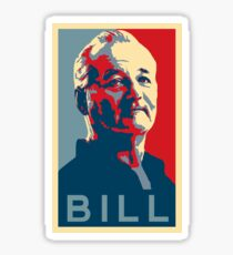 Bill Murray, Obama Hope Poster Sticker