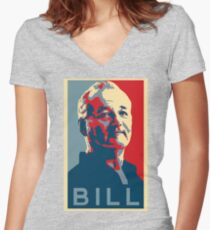 Bill Murray, Obama Hope Poster Women's Fitted V-Neck T-Shirt
