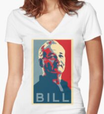 Bill Murray, Obama Hope Poster Women's Fitted V-Neck T-Shirt