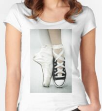 Converse / Pointe Shoe Women's Fitted Scoop T-Shirt