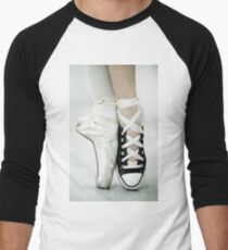 Converse / Pointe Shoe Men's Baseball ¾ T-Shirt