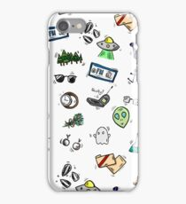 X Files Doodles iPhone Case/Skin