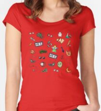 X Files Doodles Women's Fitted Scoop T-Shirt