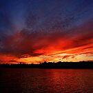 Red Sunset over Blue Sky   by LudaNayvelt