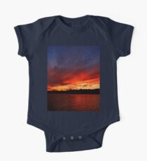 Red Sunset over Blue Sky   One Piece - Short Sleeve