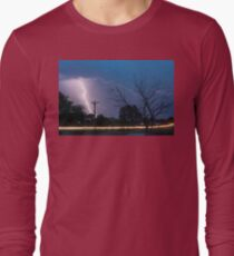 17th Street Car Lights and Lightning Strikes T-Shirt