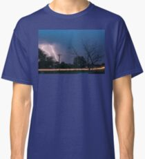 17th Street Neon Lights and Lightning Strikes Classic T-Shirt