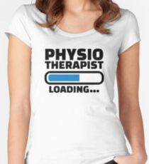 Physiotherapist loading Women's Fitted Scoop T-Shirt