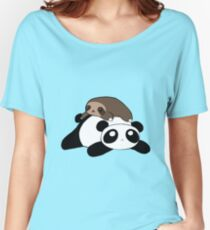 Little Sloth and Panda Women's Relaxed Fit T-Shirt
