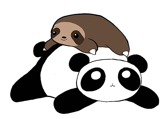Little Sloth and Panda by SaradaBoru