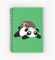 Little Sloth and Panda Spiral Notebook