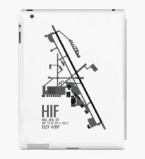 Hill Air Force Base Airfield Diagram (Gray, No Planes) iPad Case/Skin