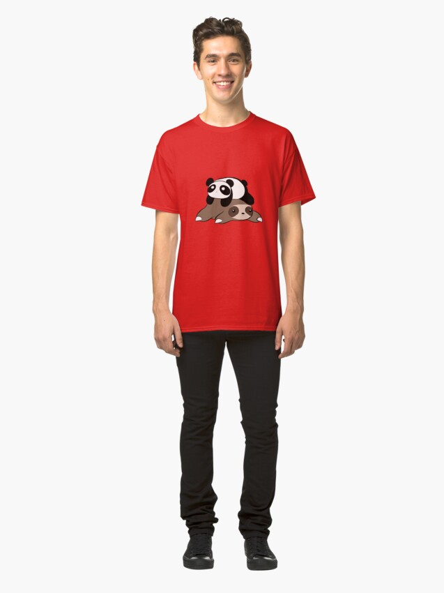 Alternate view of Sloth and Panda Classic T-Shirt