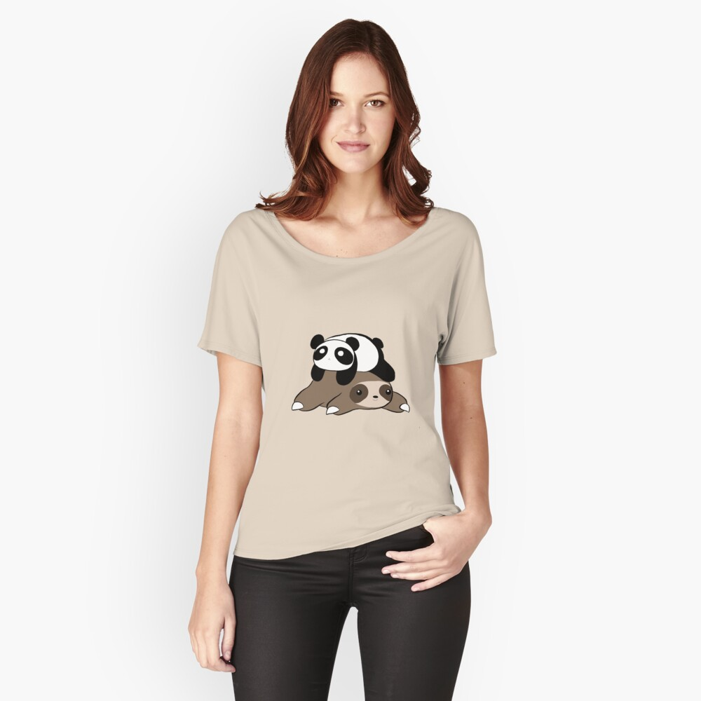 Sloth and Panda Relaxed Fit T-Shirt