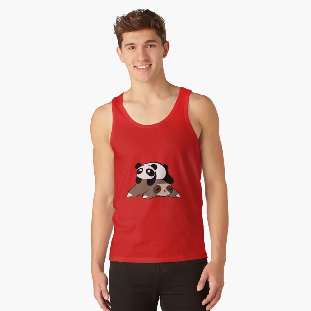 Sloth and Panda Tank Top