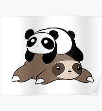 Sloth and Panda Poster