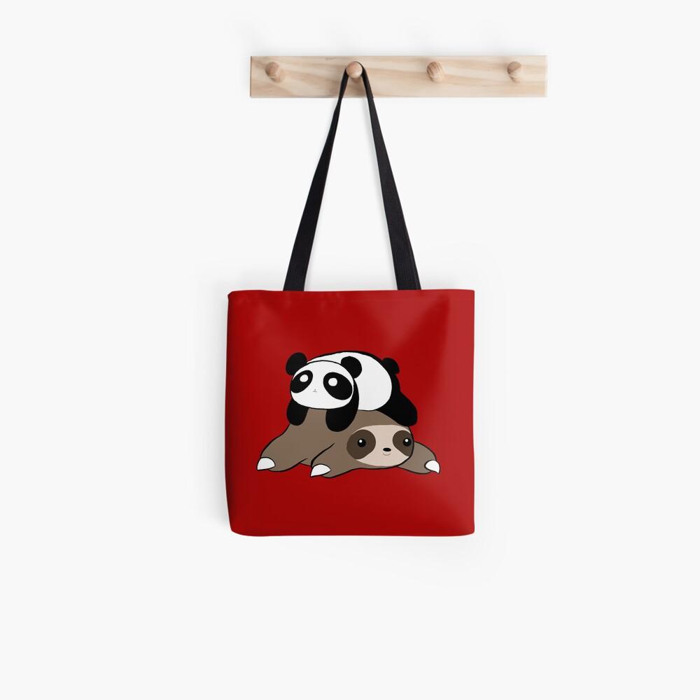 Sloth and Panda Tote Bag