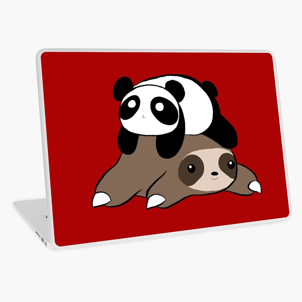 Sloth and Panda Laptop Skin