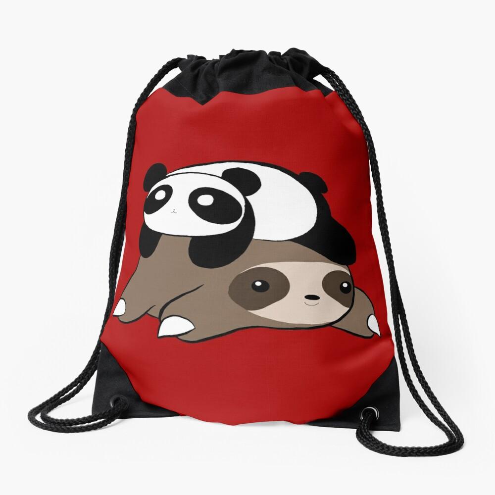 Sloth and Panda Drawstring Bag