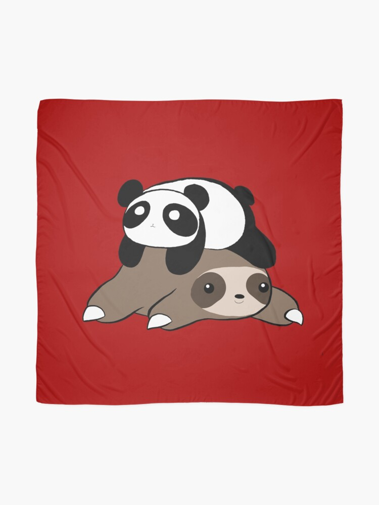 Alternate view of Sloth and Panda Scarf