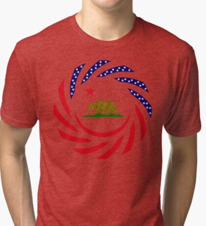 Californian Murican Patriot Flag Series Tri-blend T-Shirt