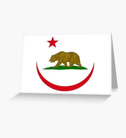 Californian Murican Patriot Flag Series 2.0 Greeting Card