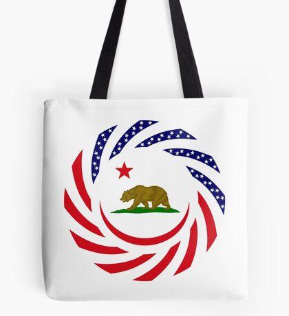 Californian Murican Patriot Flag Series Tote Bag