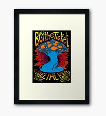"""""""Buy the ticket take the ride"""" Hunter S. Thompson quote original drawing Framed Print"""