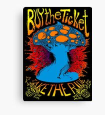 """Buy the ticket take the ride"" Hunter S. Thompson quote original drawing Canvas Print"