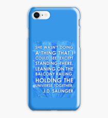 J.D. Salinger Quote - Saphire iPhone Case/Skin