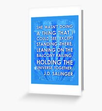 J.D. Salinger Quote - Saphire Greeting Card