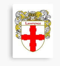 Lawrence Coat of Arms/Family Crest Canvas Print