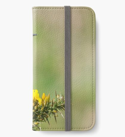 Stonechat on Gorse iPhone Wallet