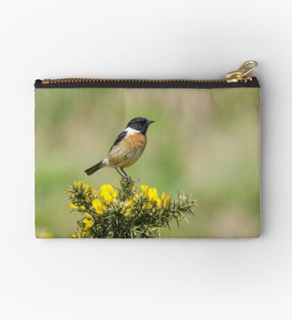 Stonechat on Gorse Studio Pouch