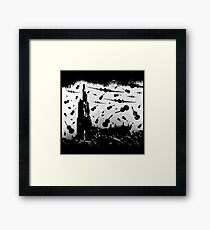 Psycho Attack - Black Print Framed Print