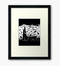 Psycho Attack - White Print Framed Print