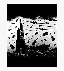 Psycho Attack - White Print Photographic Print