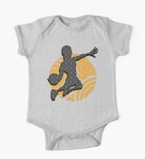 Basketball Player Geometric Hoops Pattern One Piece - Short Sleeve