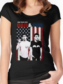 Dan and Phil Tour Women's Fitted Scoop T-Shirt