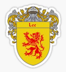 Lee Coat of Arms/Family Crest Sticker