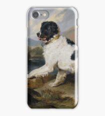 Edwin Landseer - Lion A Newfoundland Dog 1824.  Landseer iPhone Case/Skin