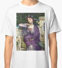 Edward Poynter - Lesbia And Her Sparrow 1907. Poynter - woman portrait. Classic T-Shirt