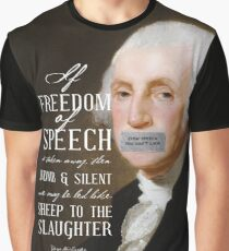 Free Speech Dumb Silent Slaughter George Washington Graphic T-Shirt