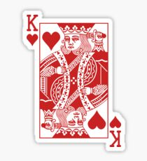 King of Hearts - Red Sticker
