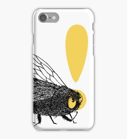 Thinker fly, I buzz therefore I am iPhone Case/Skin